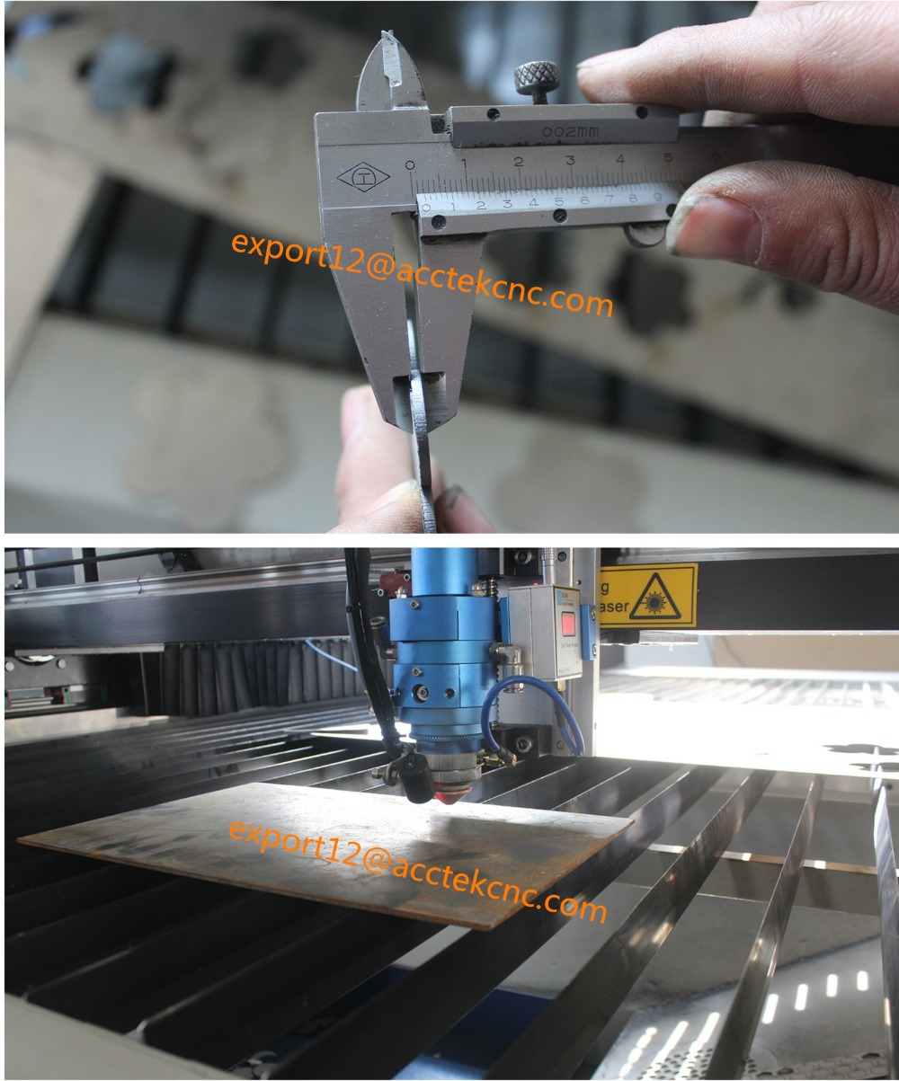 metal laser cutter with 180w or 260w co2 laser tube / laser cutting machine for metal