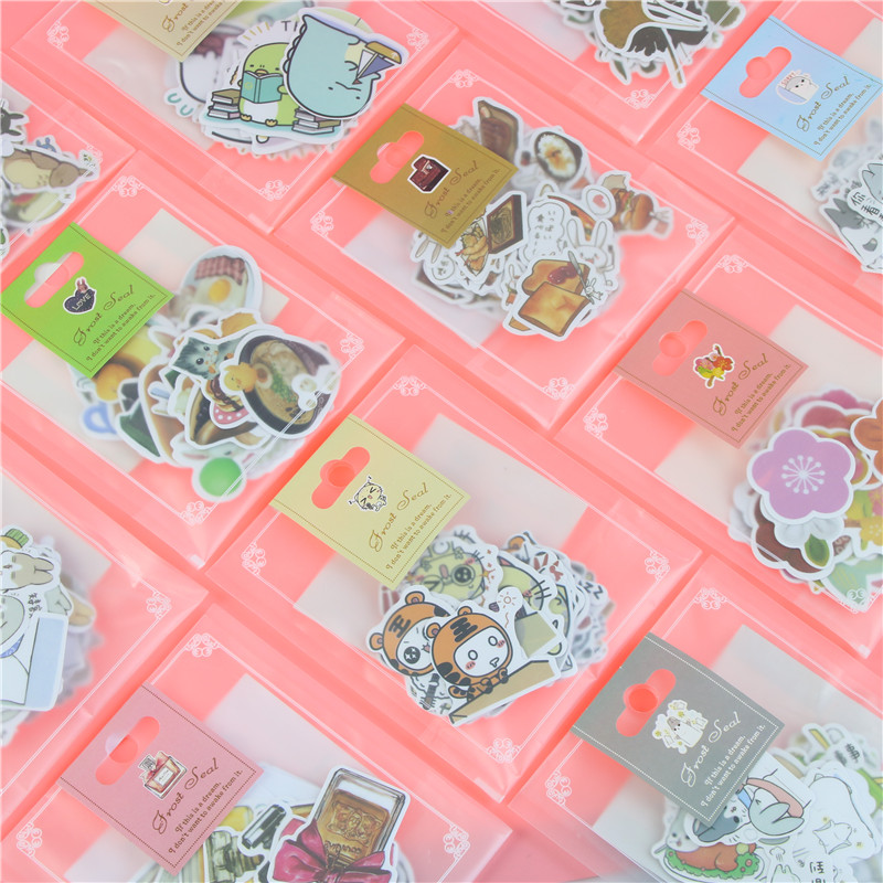 1 Bag Cute Cartoon Korean Style Decorative Stickers Adhesive Stickers Scrapbooking DIY Decoration Diary Stickers сетка противомоскитная help оконная 110 х 130 см