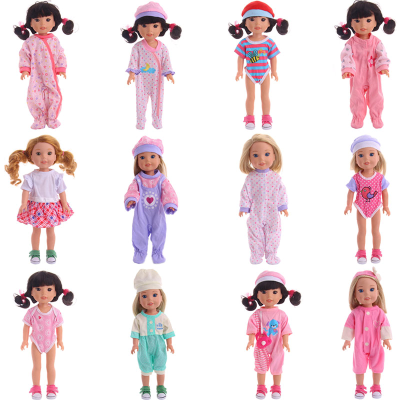 Super cute 12 new pajamas, suitable for 14.5 inch American dolls, give your child the best sleeping doll accessories image