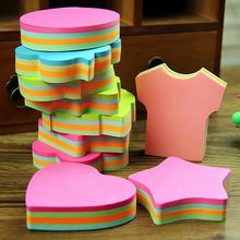 2PCS\LOT Creative Lovely Shape Stickers Candy Color New Style Mini Memo Pads Kawaii Sticky Notes School Stationery
