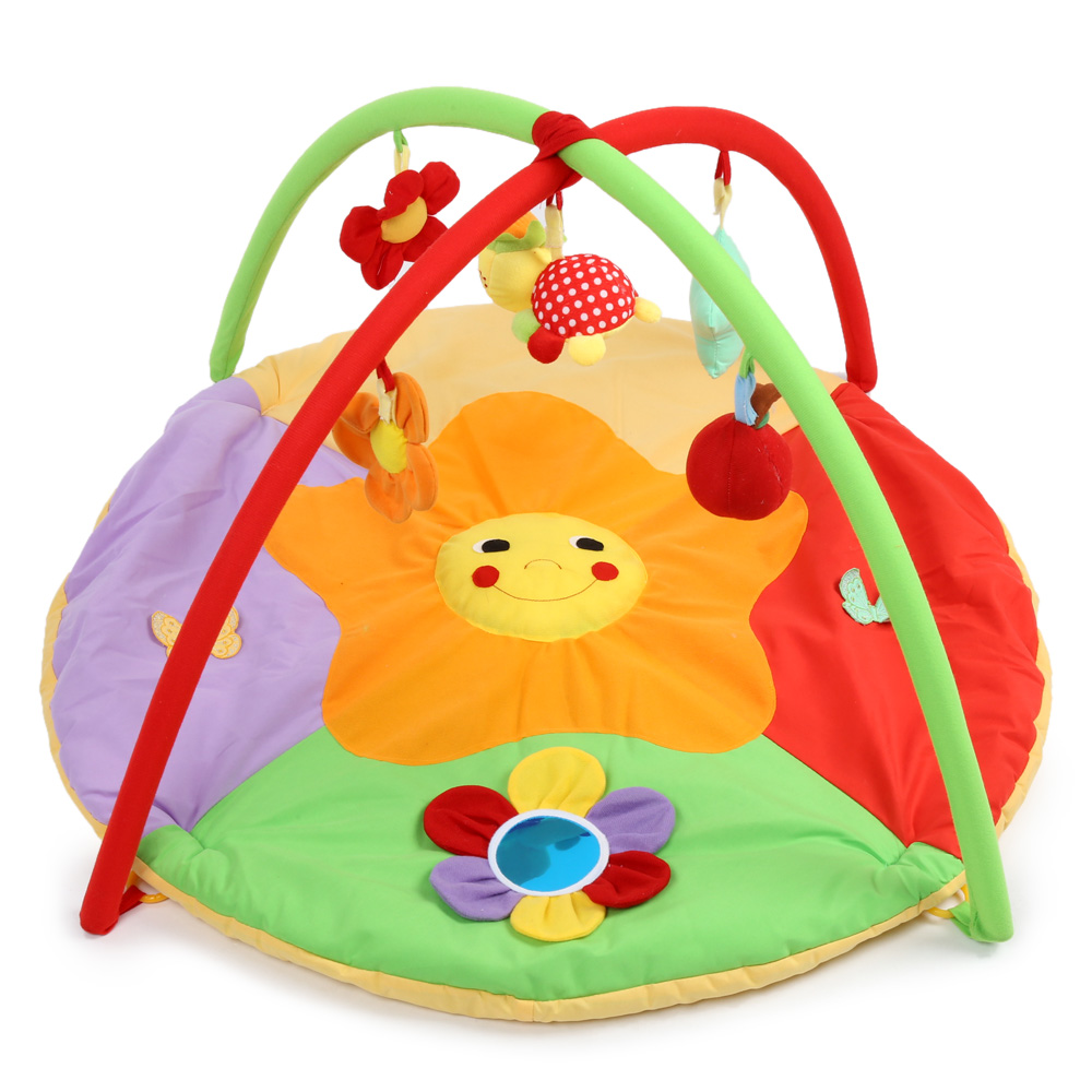 Baby Soft Play Mat Sunflower Gym Blanket Frame Soft Play Gym Blanket Crawling Rugs Carpet Rug Play Mat Floor Carpet Paradise 3 in 1 newborn infant baby game bed baby toddler cribs crawling activity gym mat floor blanket kids toys carpet bedding soft