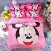 3D Bedding Set Pink Mouse Duvet Cover Twin Full Queen Nordic Cartoon Style Bedding Bed Linen