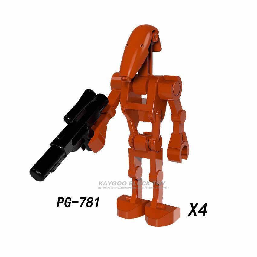 4 шт., Звездные серии, космические войны, роботы-изгои, игрушечные блоки, K-2SO, строительные блоки, подарок для детей, игрушки PG8099
