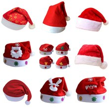 2018 New Fashion children Adult Hat for Christmas Santa Claus Reindeer Snowman Xmas Gifts Cap(China)