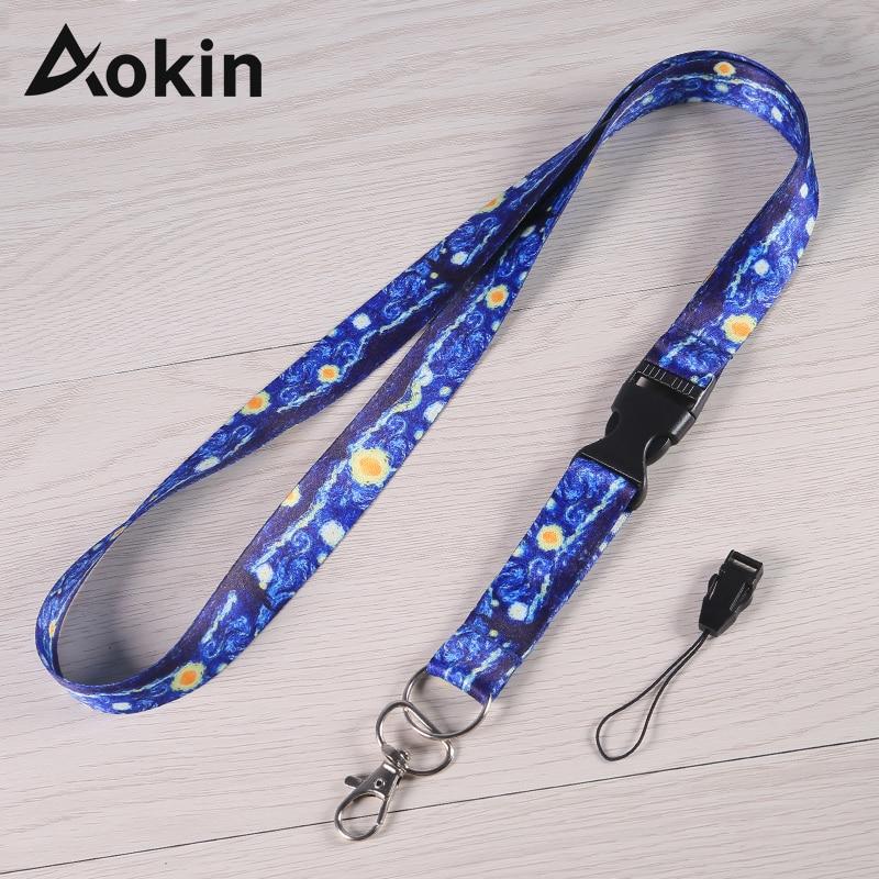Aokin Neck Strap Lanyards For Keys ID Card Gym Mobile Phone Straps USB Badge Holder DIY Hang Rope Lariat Lanyard Correa Cuello