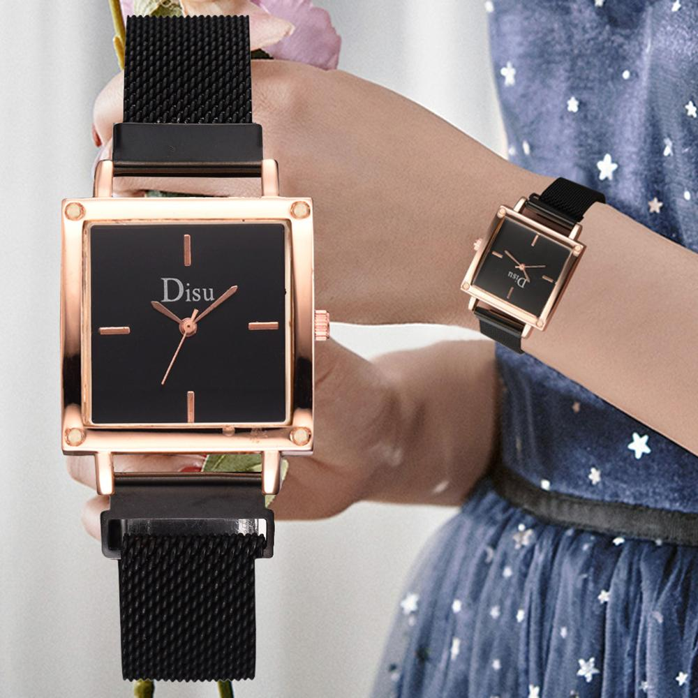 New Women Square Magnetic Watch Minimalist Style Ladies Dress Quartz Wrist Watches Waterproof Clock Relogio Feminino Reloj Mujer