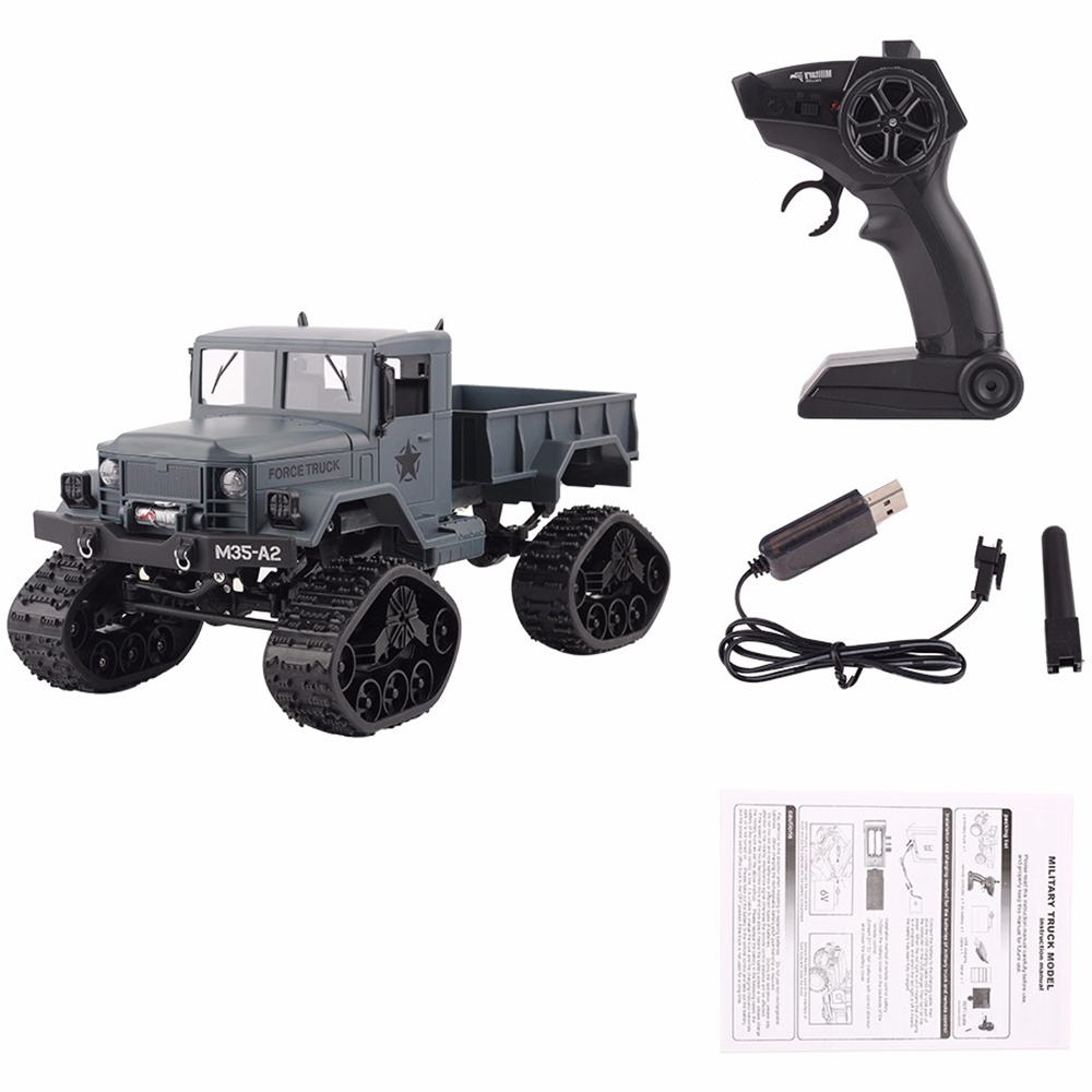 1:16 4WD Off-Road Climbing Auto Toy Car 4 Wheel Drive RC Car Educational Toys for Children Remote Control Military Truck