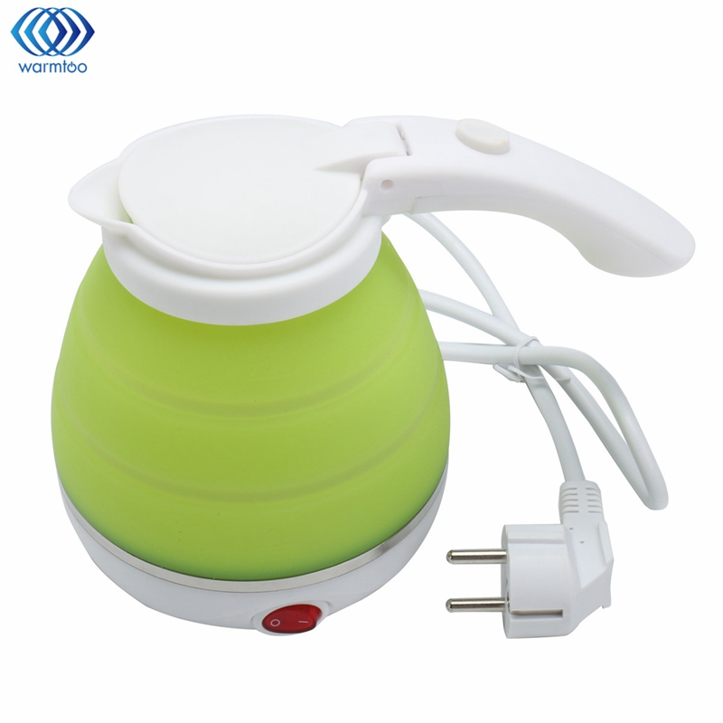 Electric Kettle Silicone Foldable Automatic Power-off Travel Camping Portable Water Boiler Adjustable Voltage Home 680W 700w portable food grade plasctic electric kettle thermal insulation teapot 0 5l home travel water boiler seperated underpan