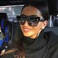 JUSTRUE Quadrado Do Vintage Óculos De Sol Das Mulheres Dos Homens Designer de Marca Famosa Celebridade Lady 50 S óculos de Sol SOMBRA Sunnies Óculos Feminino