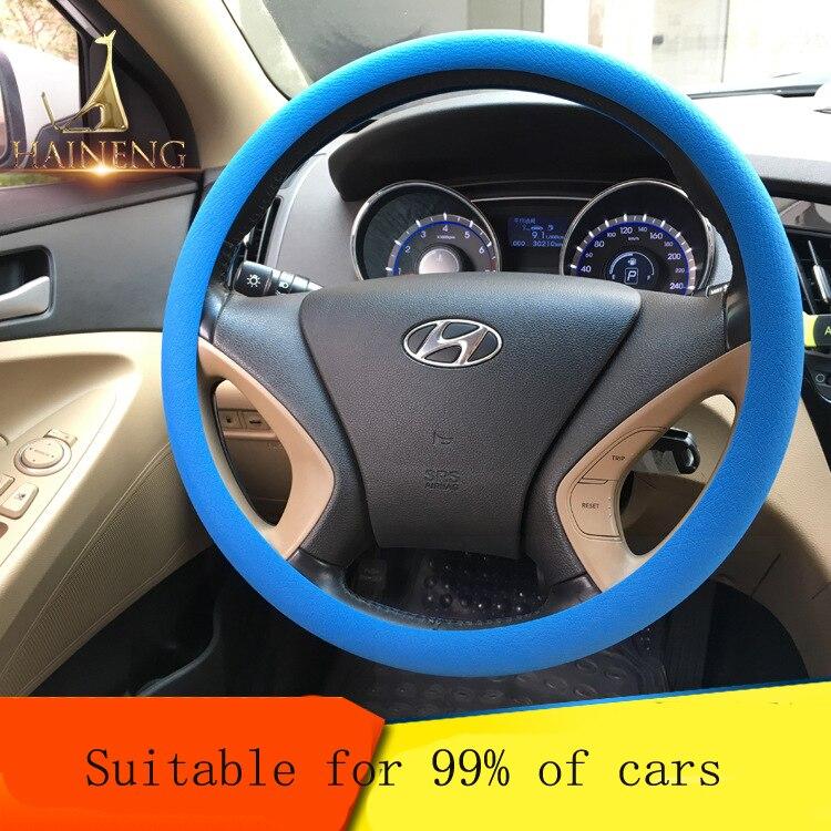 Silica Gel Ecological Anti Slip Shell Steering Wheel Cover