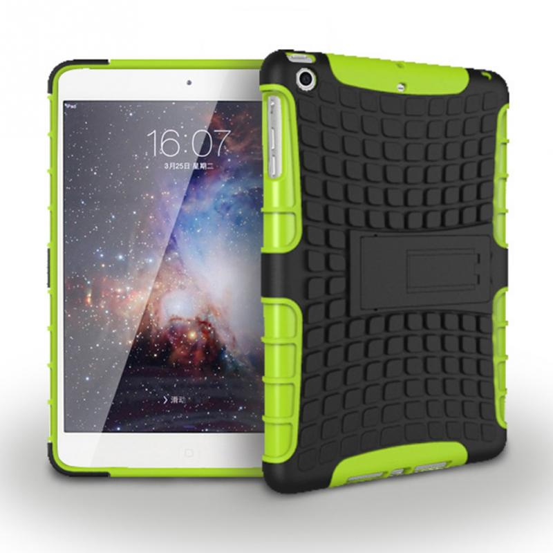 2017 Luxury Stand TPU Case For iPad mini 1 / 2 Heavy Duty Hybrid Silicone Rugged Stand Hard Case Cover For iPad Mini 2 1