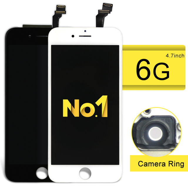 Highscreen no. 1 alibaba china de buena calidad lcd para iphone 6 ensamblaje de la pantalla lcd no pixel muerto con marco + soporte de la cámara