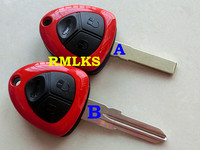RMLKS 3 Buttons Replacement Blank Fob Key Case Remote Smart Key Shell Fit For Ferrari 458 Uncut Blade