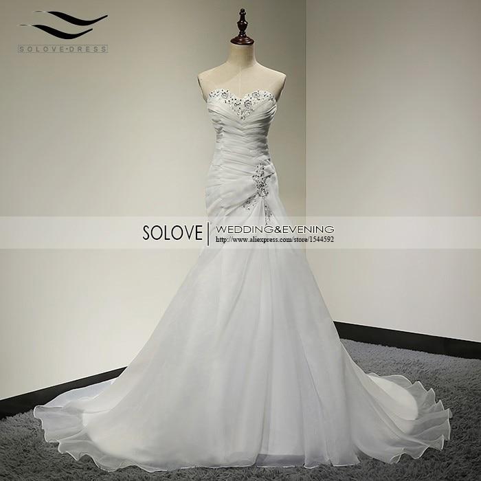 Elegant chapel train organza Pleat wedding dress bridal wedding gown vestido De noiva 2018
