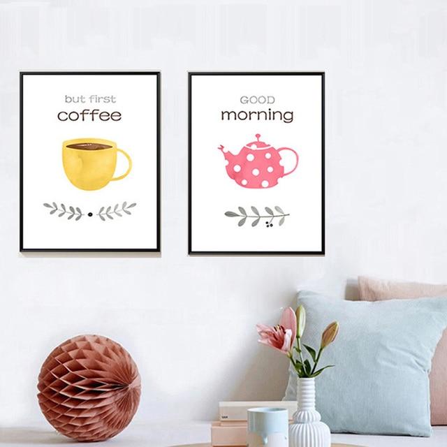 Xdr059 stile Nordico ristorante pittura decorativa caffè tè di amore ...