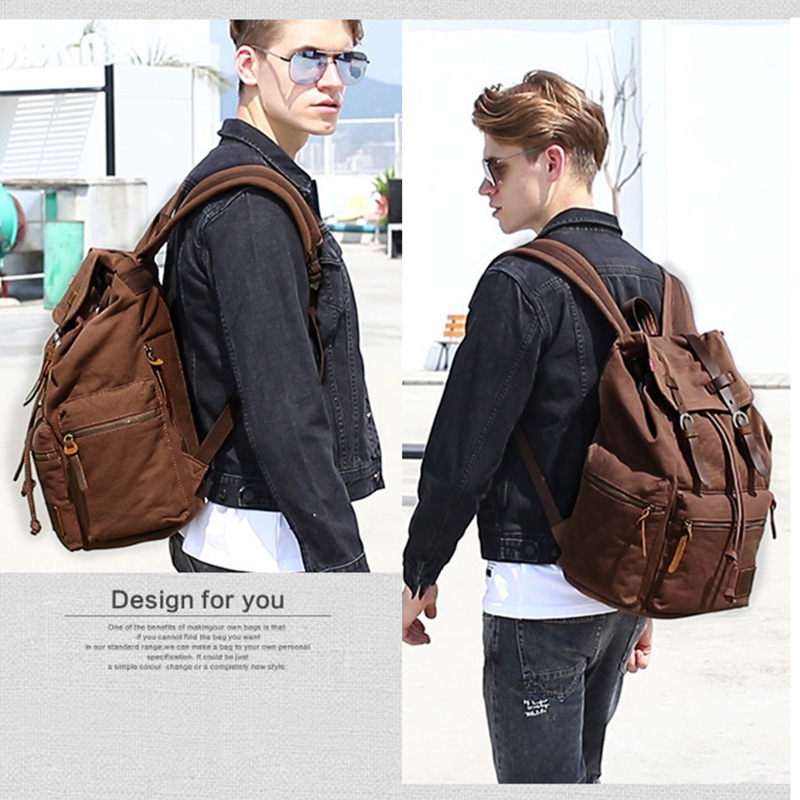 2019 New Backpack Plus 17 quot Men Women Fashion Backpacks Vintage Canvas Travel Backpack Unisex Mochila Masculina Sac A Dos Femme in Backpacks from Luggage amp Bags