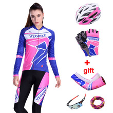 Pro Team Cycling Clothing Women Long Sleeve Bicycle Clothes Ladies Road Bike Jersey Set Cycle Mtb Spring Autumn Riding Suit 2019 цена
