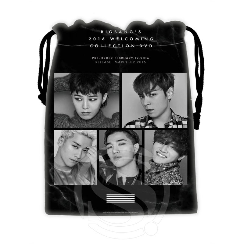 H-P675 Custom Bigbang#12 Drawstring Bags For Mobile Phone Tablet PC Packaging Gift Bags18X22cm SQ00806#H0675