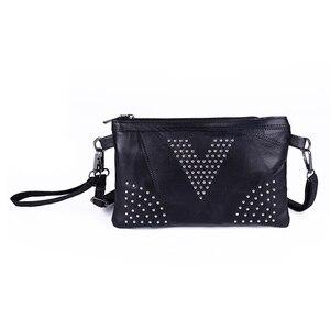 FGGS-Pu Leather Black Handbags