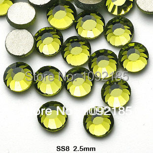 stones and crystals strass ss8 1440pcs/pack 2.4-2.5mm wholesale olivine color falt back rhinestone crystal nail art rhinestones cvco55cc 2280 2380 crystals and oscillators mr li
