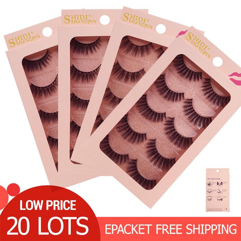 100 คู่ขนตาปลอมขายส่งขนตาปลอมธรรมชาติ Mink Lashes แต่งหน้าขนตาปลอมขายส่งขนตาชุด-ใน ขนตาปลอม จาก ความงามและสุขภาพ บน   1