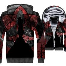 Naruto 3D Hoodies 2019 Fashion Mens Winter Thick Jacket Harajuku Zipper Hoodie Streetwear Anime Jackets Outwear Unisex Coat Men