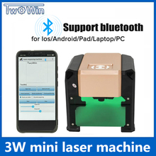 Upgrade Bluetooth 3000MW Purple CNC Laser Engraving Machine AC 110 220V DIY Engraver Desktop Wood font