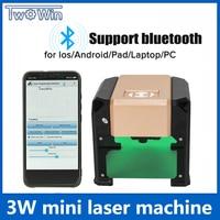 Upgrade Bluetooth 3000MW Purple CNC Laser Engraving Machine AC 110 220V DIY Engraver Desktop Wood Router/Cutter/Printer