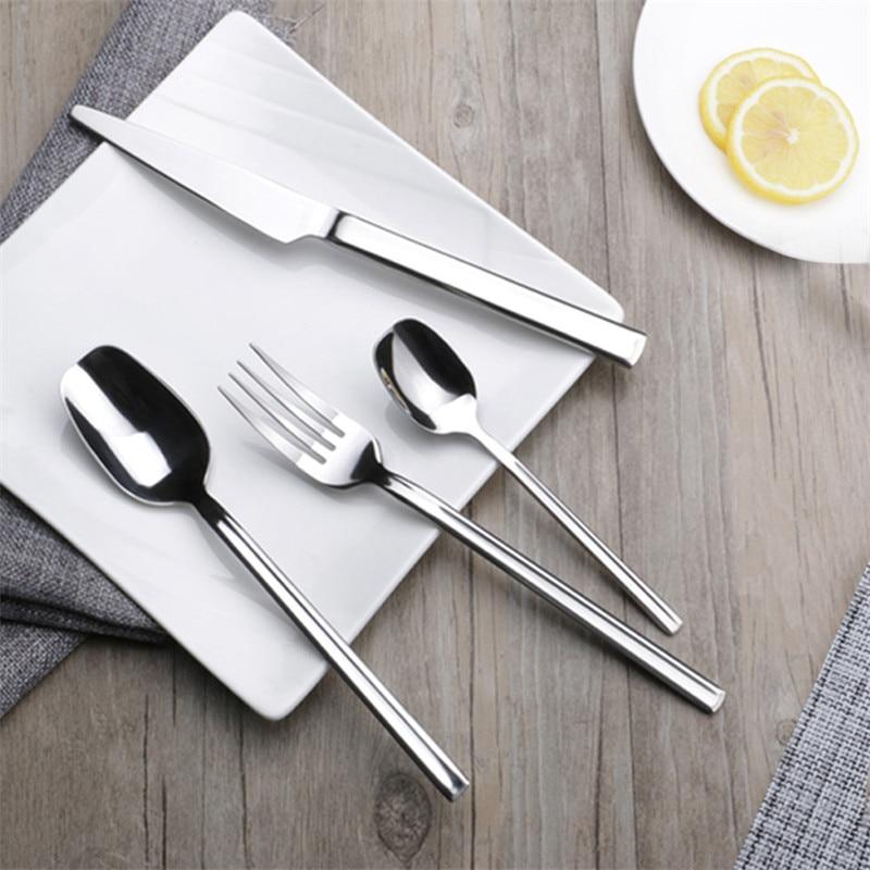 24pcs set European Style Chivalry Stainless Steel Cutlery Set Knight Flatware Set Dinner Knives Fork Set