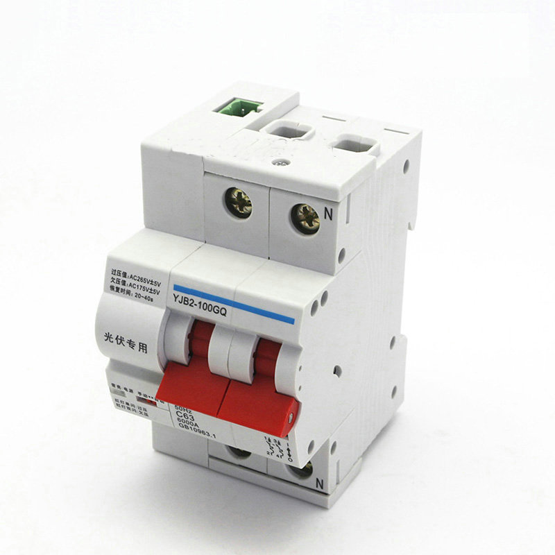 2P 63A PVRD ARD Auto Reclosing Device Miniature Circuit Breaker with Voltage Failure Protection for Solar System2P 63A PVRD ARD Auto Reclosing Device Miniature Circuit Breaker with Voltage Failure Protection for Solar System