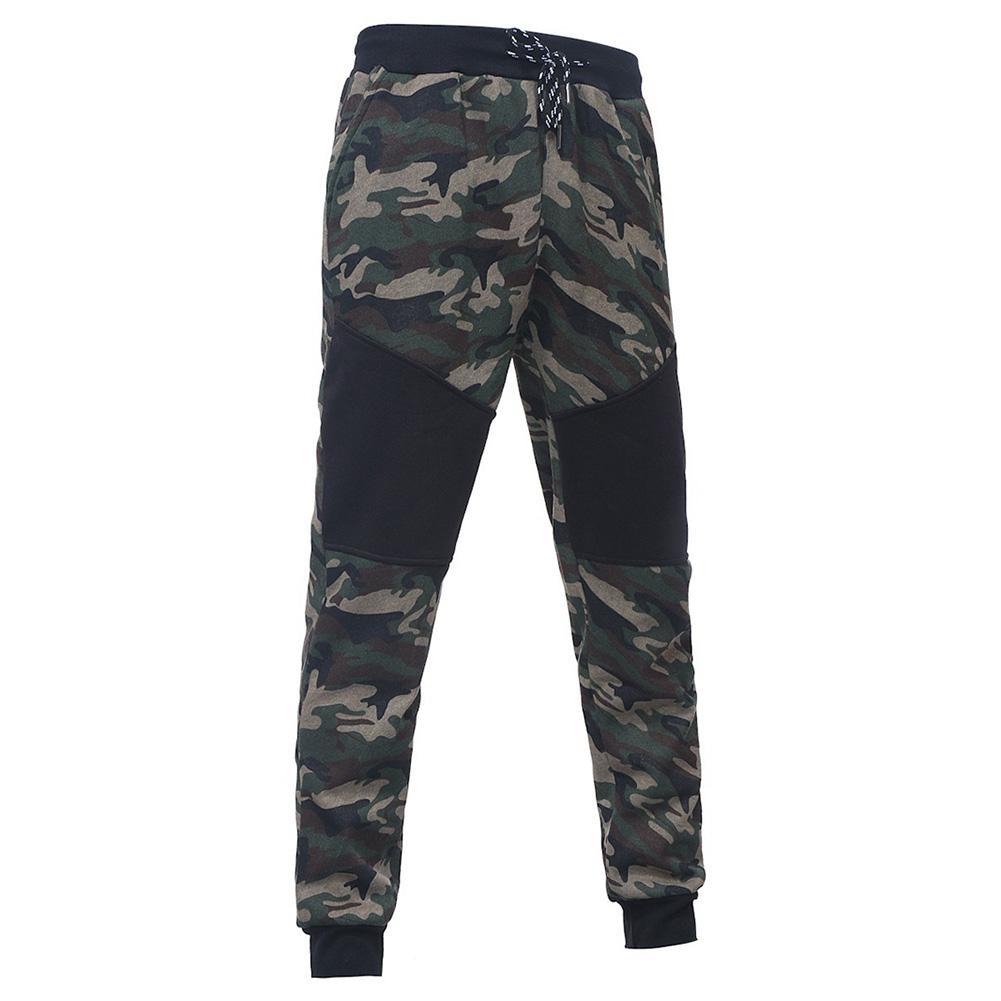 Camo Blue Men Autumn Long Pants Plus Size Xxxl Patchwork Men's Autumn Trendy Printed Pants San0 Fancy Colours