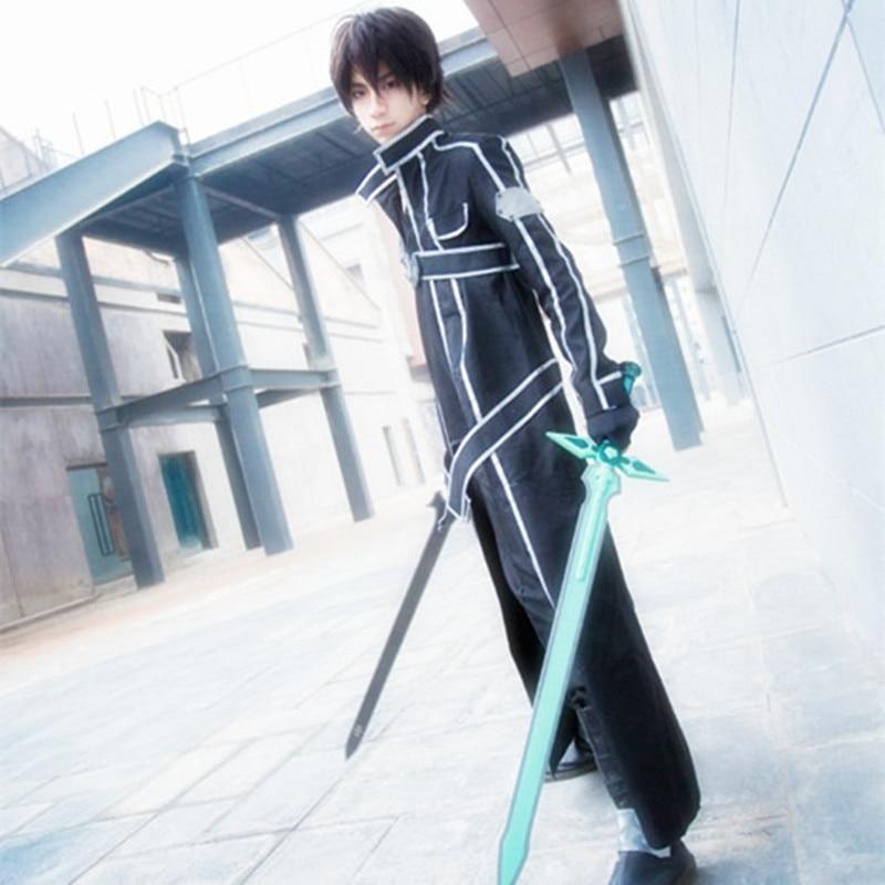 Trajes de cosplay de Kirigaya Kazuto Anime japonés Arte de espada en - Disfraces