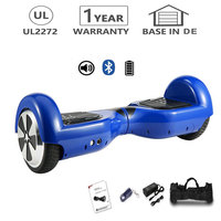 6.5 inch Hoverboard Smart Two Wheels Electric Scooter Self Balance Board Skateboard mit Bluetooth Blue