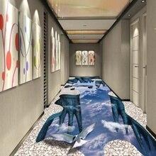 [Самоклеющиеся] 3D орел небо Клифф 2 Нескользящие водонепроницаемые фото самоклеющиеся пол настенные стикеры обои фрески настенная печать