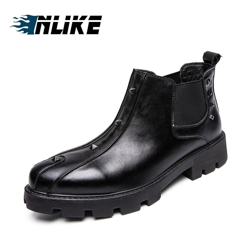 Cheville Hommes Cuir De Inlike Homme En Nouvelle Arrivée D'affaires Bottes Confortable Marque Chaussures Luxe Chelsea xaATp6nAqw