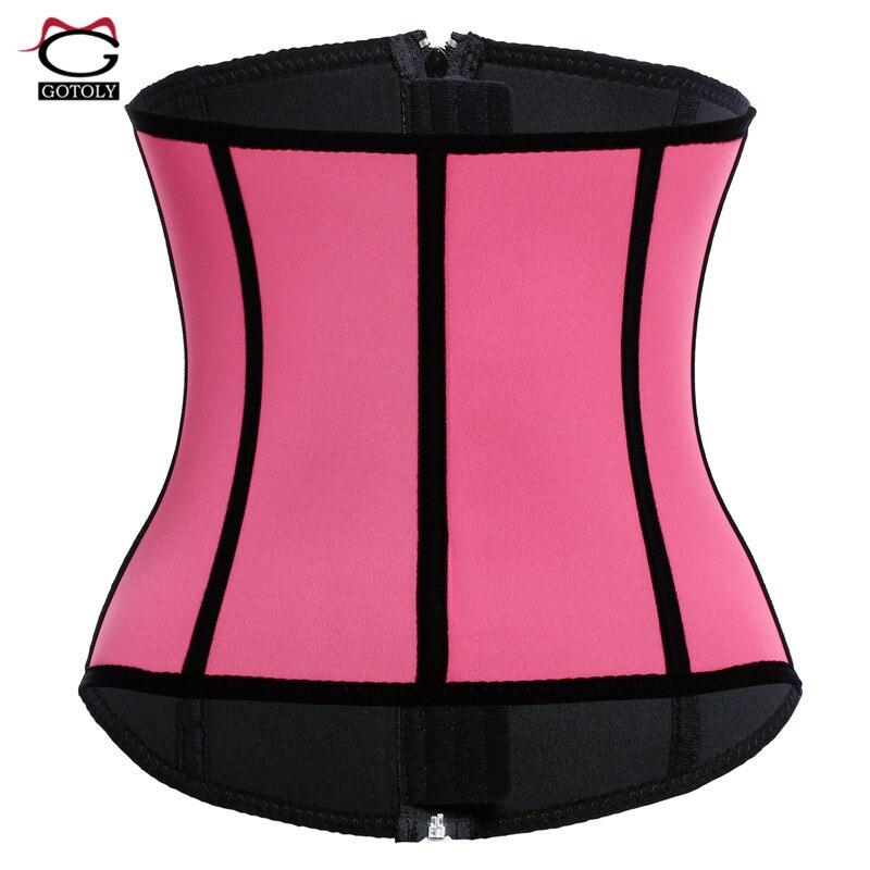 5d87858890c89 Neoprene Waist Trainer Sweat Belt Sauna Modeling Strap hot Body Shaper Tummy  Control Workout Slimming Shapewear Corset for Women-in Waist Cinchers from  ...