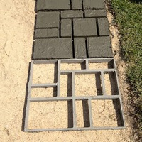 Garden DIY Path Maker Mold Paving Cement Stone Mould Brick Road Molds Plastic Mold for Garden Building Supplies