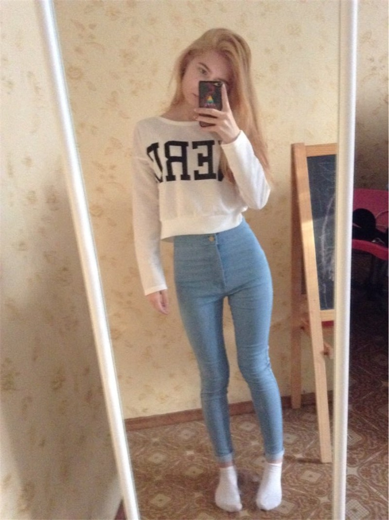 18 New Fashion Jeans Women Pencil Pants High Waist Jeans Sexy Slim Elastic Skinny Pants Trousers Fit Lady Jeans Plus Size 110