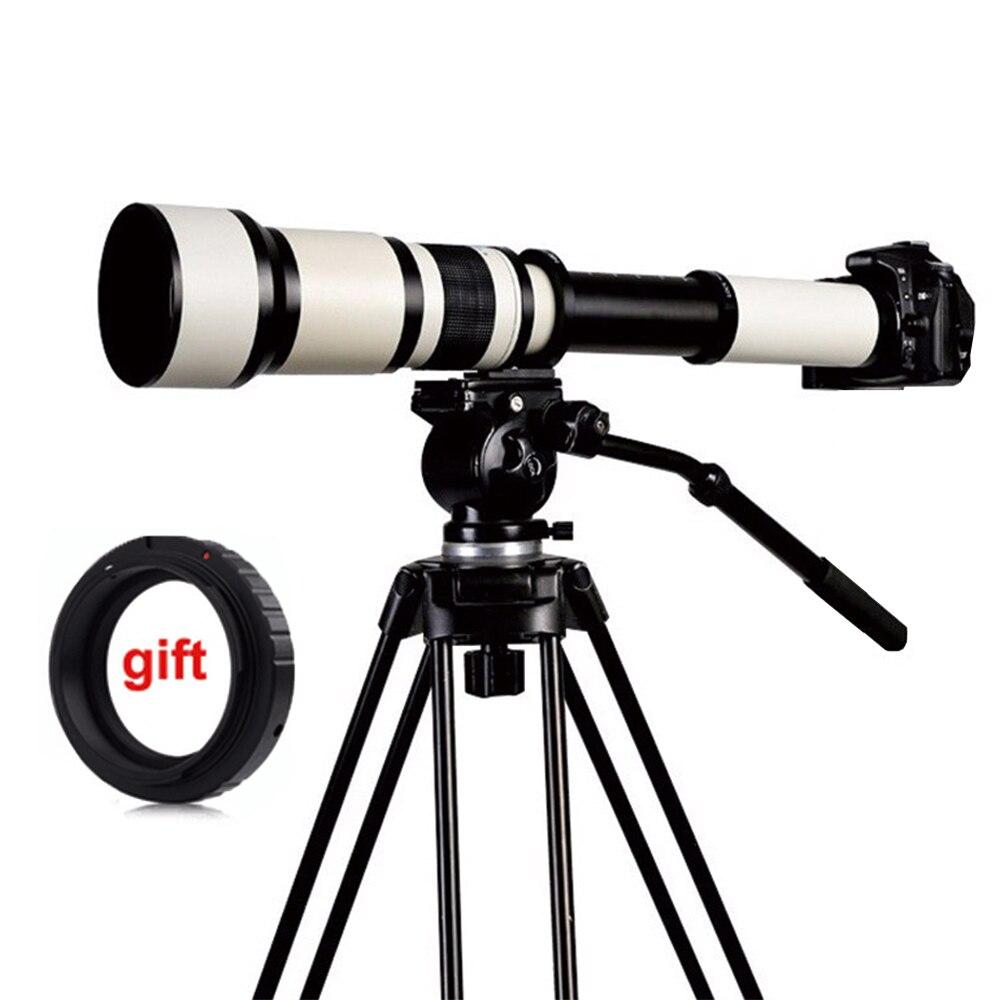 650-1300mm F8.0-16 Super Teleobiettivo Zoom Manuale Lens + T2 Adattatore per DSLR Canon Nikon Pentax Olympus Sony A6300 A7RII/GH4 GH5