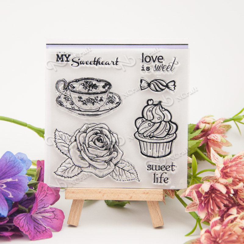 love is sweet Silicone Transparent Stamp Photo Cards Rubber Stamp DIY Clear Stamp Scrapbook Seal for Christmas gift T0018 lovely animals and ballon design transparent clear silicone stamp for diy scrapbooking photo album clear stamp cl 278