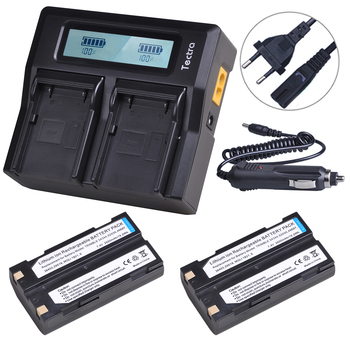 2PCS 2600mAh 54344 Battery+Rapid LCD Dual Charger for Trimble 29518 46607 52030 38403 5700 5800 R7 R8 GNSS MT1000 GPS Receiver