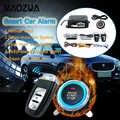 9 pçs/set início remoto automático sistema de alarme do carro motor starline botão start stop suv sistema de entrada keyless imobilizadores