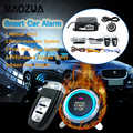 9 teile/satz Auto Remote Start Auto Alarm System Motor Starline Push Button Start Stop SUV Keyless Entry System Auto Wegfahrsperren
