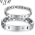 Engrave your Logo/Letter Valentines' Day DIY Jewelry for Lover Stainless Steel Bracelets Bangles Female Male Bracelet