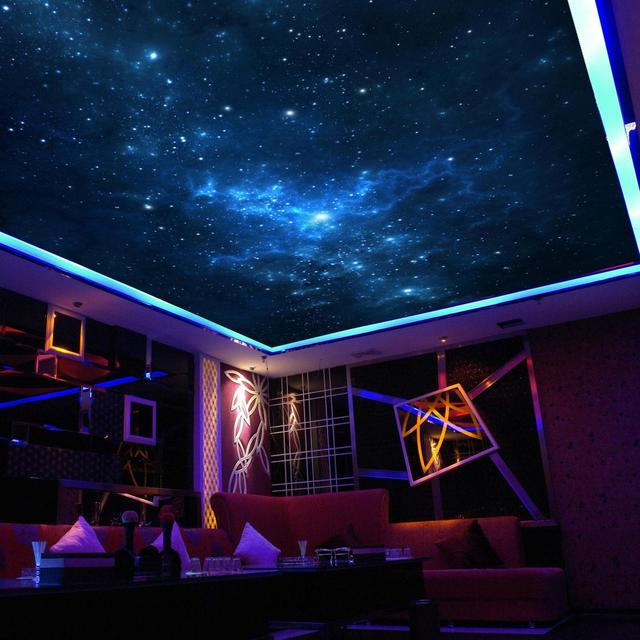 The stars in the night sky mural wallpaper ktv ceiling for Describe the mural on the ceiling of the stage