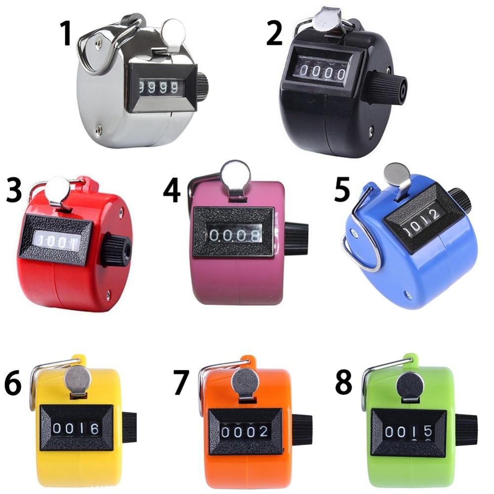 Hand Tally Klik Teller Met 4 Digitale Nummer Vinger Display 8 Kleuren 4-digit Tellers Hot Sale 50-70% Korting