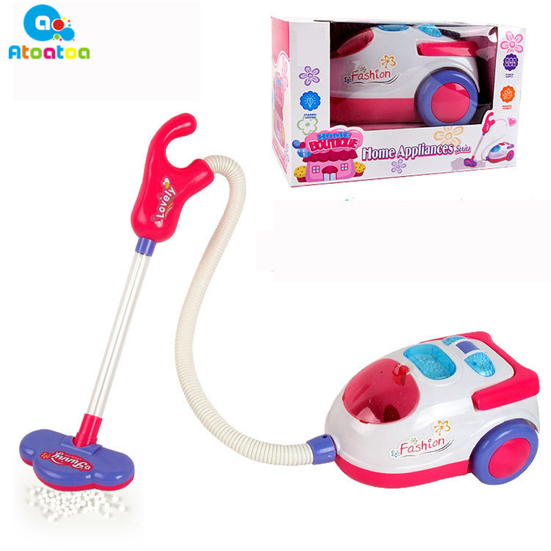 Simulation Furniture Vacuum Cleaner Toy Supply Childrens Pretend Play Furniture Toys Birthday Gift for Girls