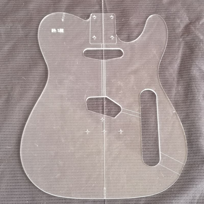tele style electric guitar body transparent acrylic template guitar making molds in guitar parts. Black Bedroom Furniture Sets. Home Design Ideas