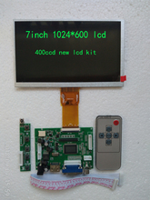 7inch lcd kit 100% NEW 1024*600  500ccd High resolution LCD display for Carpc DIY Raspberry Pi