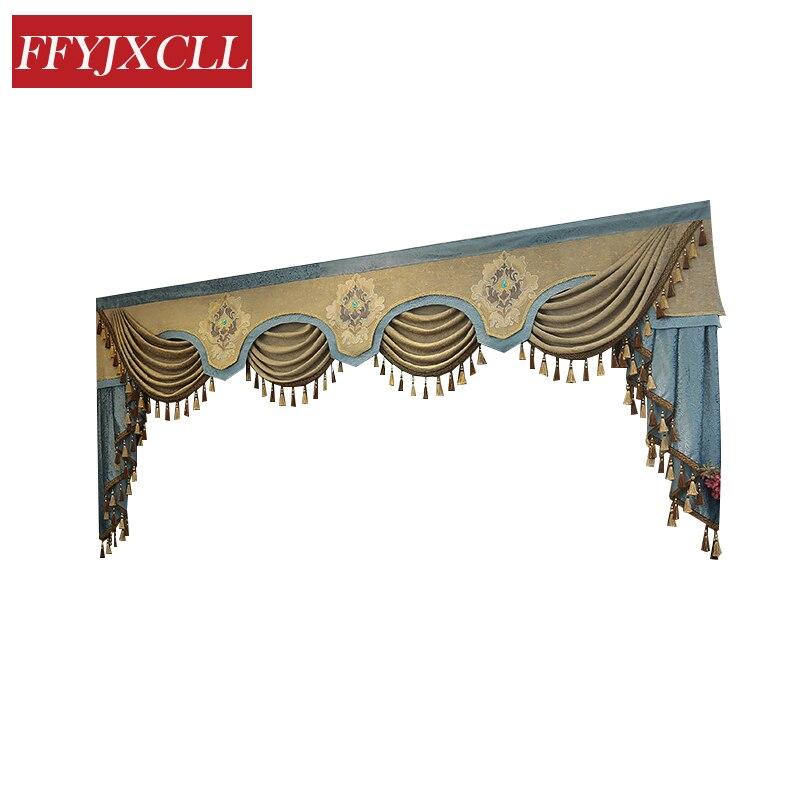 7 стилей, новые Pelmet европейские Роскошные занавески для гостиной, оконные шторы для спальни, 1 шт., на заказ